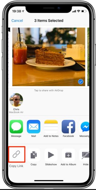 iPhone Fotos per iCloud-Link einfach freigeben/teilen