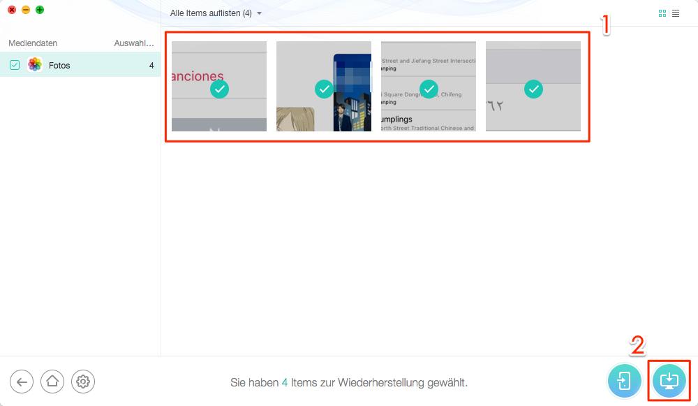 Fotos verschwunden – aus iCloud Backup wiedergewinnen – Schritt 4