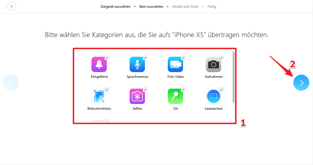 iPhone bestätigen iCloud - Schritt 2