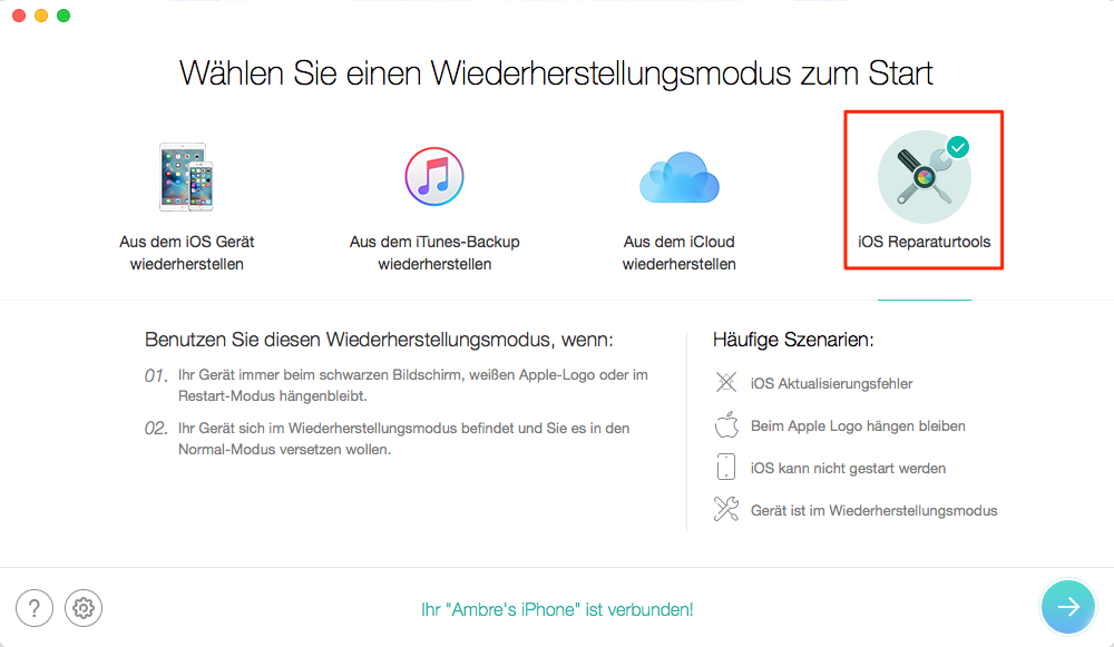 Iphone x geht nicht an