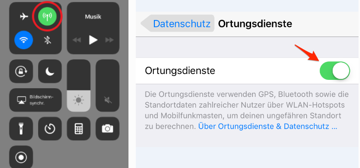 iPhone GPS funktioniert nicht