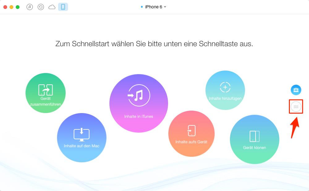 iPhone Klingelton übertragen – Schritt 1
