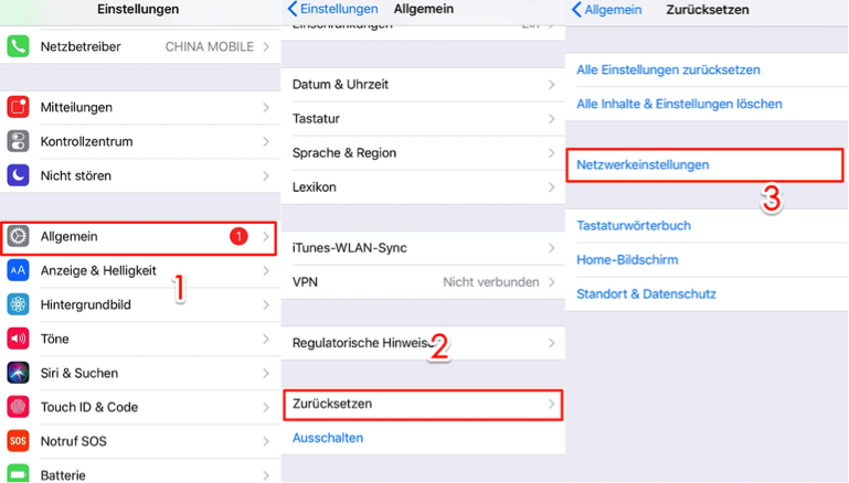 iOS 14 Probleme fixieren – iPhone kein Netz