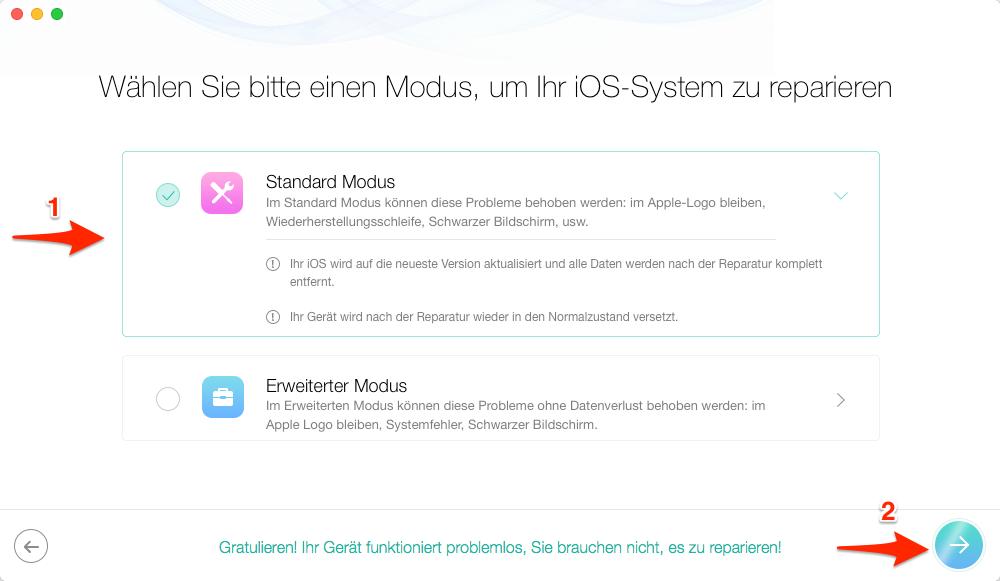 iOS 14 Probleme: iPhone hängt beim Apple-Logo vermeiden – Schritt 2