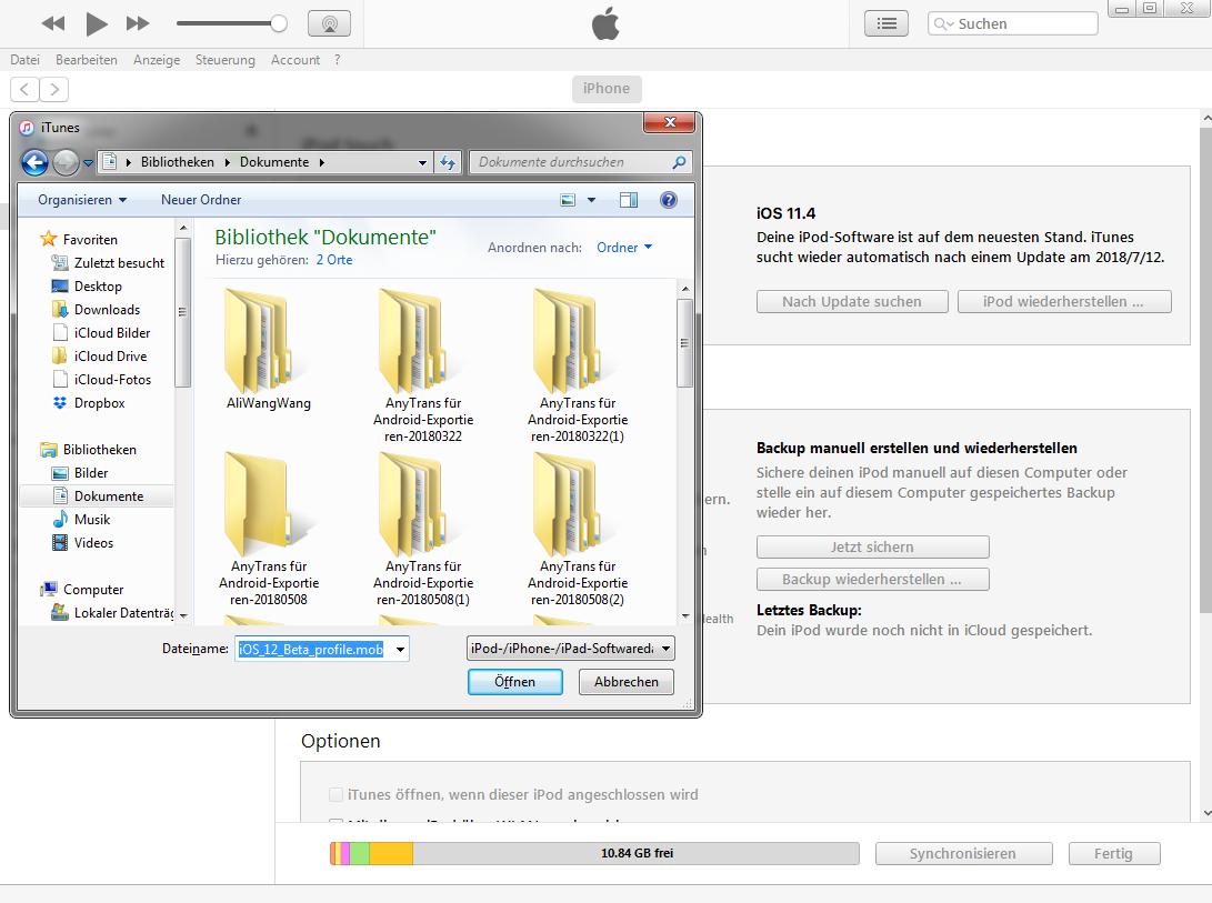 iOS 12 Update kann nicht installiert werden