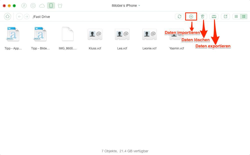 iPhone als Festplatte, ohne iTunes – Schritt 2
