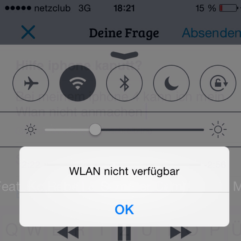 iPhone WLAN Probleme – iPhone WLAN grau