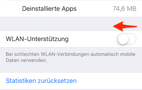 iPhone WLAN Probleme – WLAN Assist deaktivieren