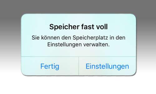 iPhone Problems: Speicher voll