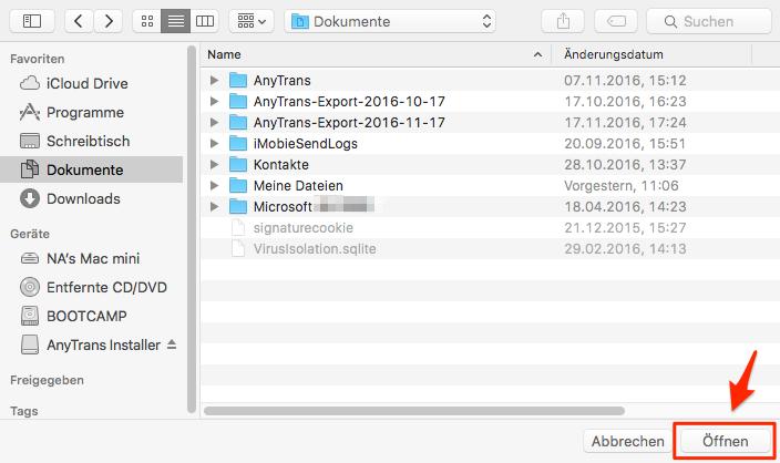 iPhone/iPad USB Stick Daten exportieren – Schritt 3