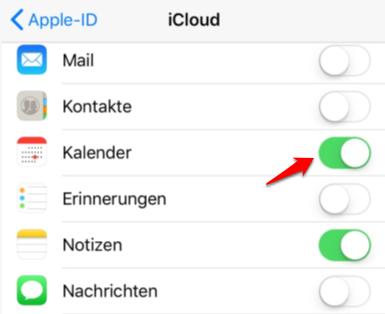 iPhone Kalender synchronisieren – Mit iCloud)