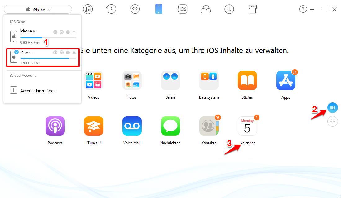 iPhone Kalender synchronisieren – Ohne iCloud