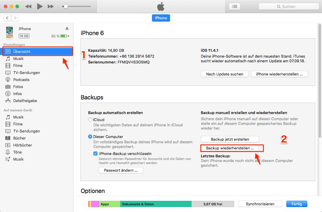 iOS 12: iPhone Kalender weg - mit iTunes wiederherstellen