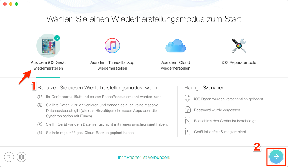 iPhone Kalender verschwunden iOS 12 - Schritt 1