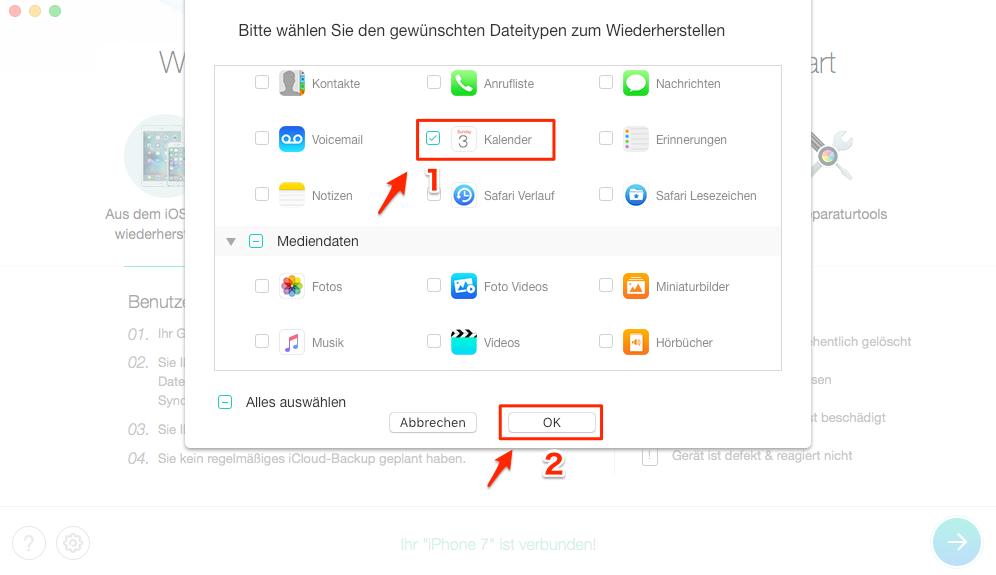 iOS 12 iPhone Kalender alte Termine Weg - Schritt 2