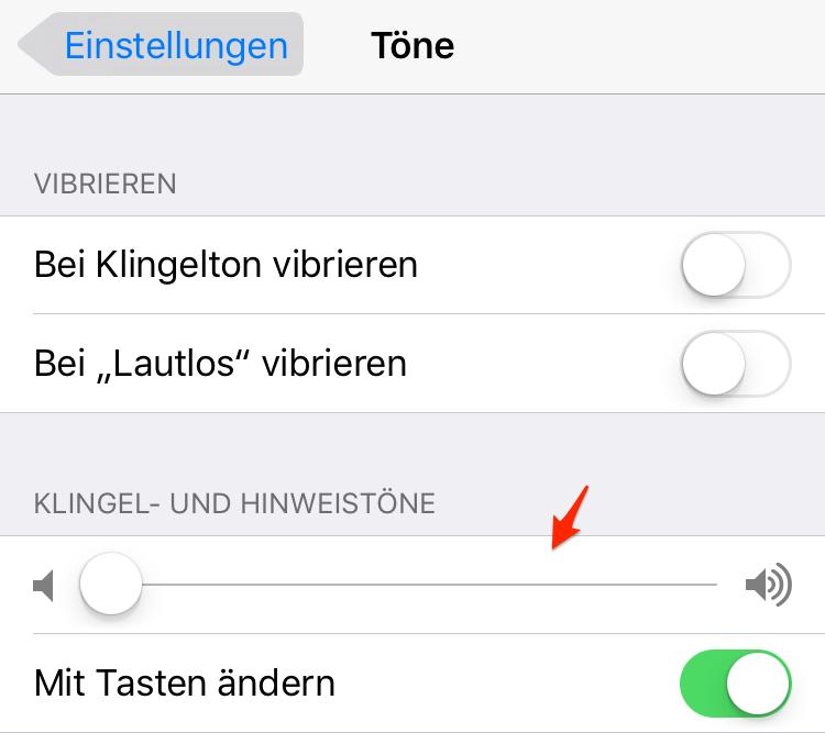 iPhone/iPad unter iOS 11-11.2.6 kein Ton: Zwischen Töne und Audiowiedergabe unterscheiden