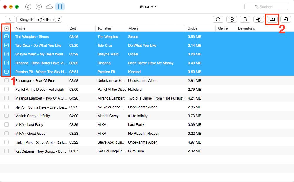 Ohne iTunes! iPhone Klingelton auf Computer hinzufügen – Schritt 3