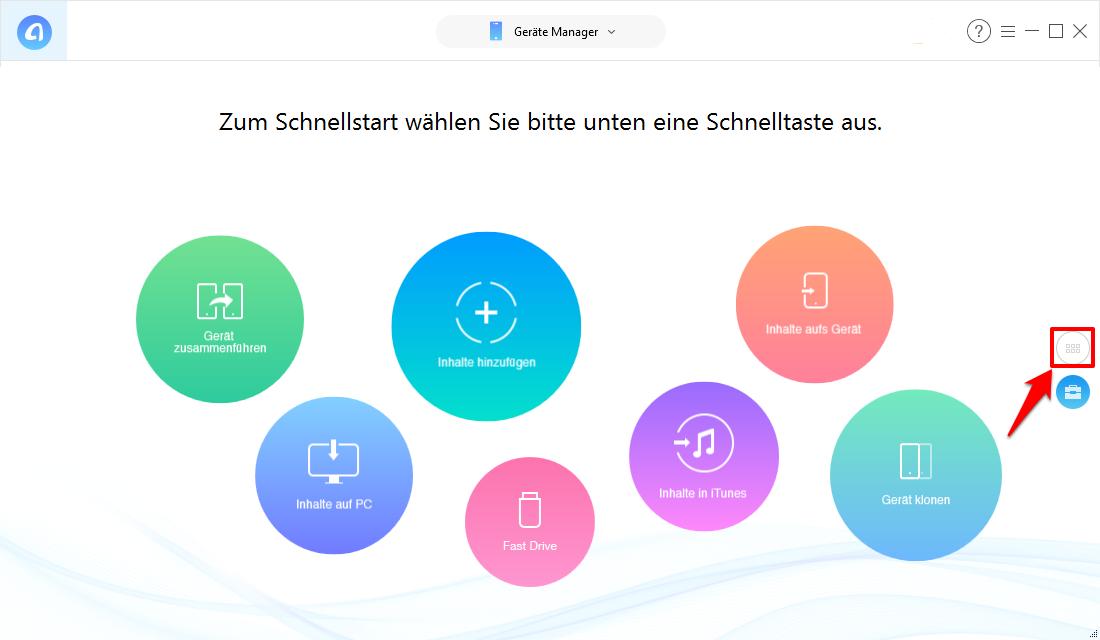 iPhone Klingelton löschen: AnyTrans öffnen – Schritt 1