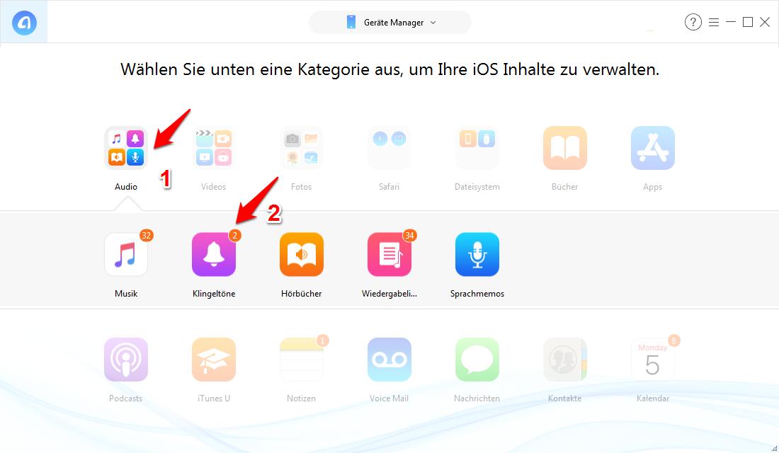 iPhone Klingeltöne löschen, ohne iTunes – Schritt 2