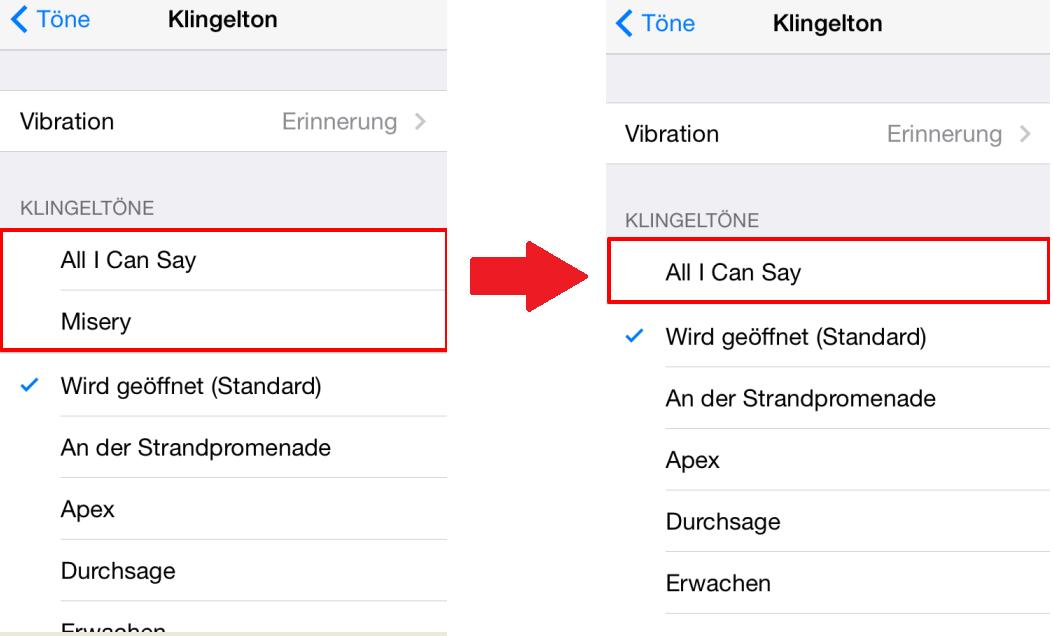 Klingeltöne vom iPhone löschen – auf iPhone überprüfen