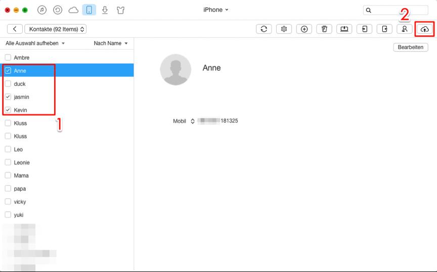 Schnell! iCloud Kontakte in iCloud sichern – Schritt 3