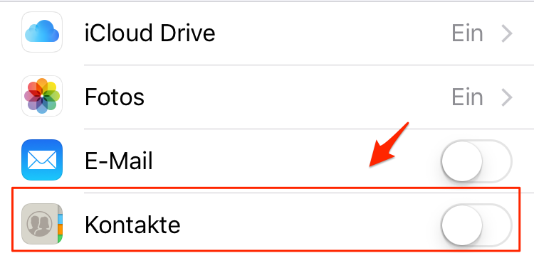 Alle iPhone Kontakte sichern – mit iCloud