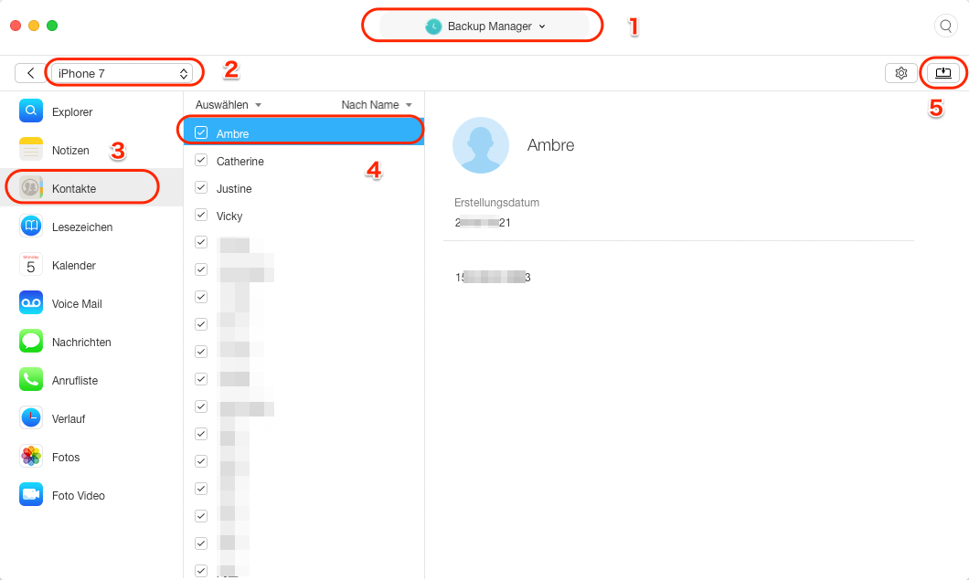 iPhone Kontakte weg: Kontakte aus iTunes-Backup wiederherstellen