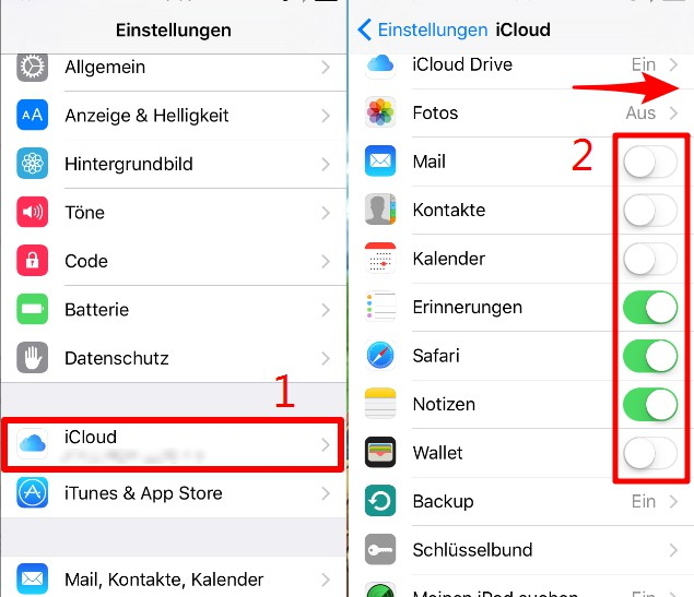 iPhone mit iPad synchronisieren mit iCloud