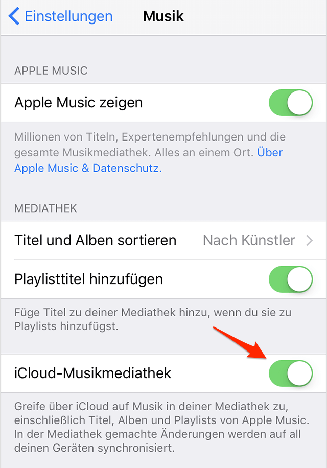 Musik über iCloud-Musikmediathek wiedergewinnen – iPhone Musik verschwunden