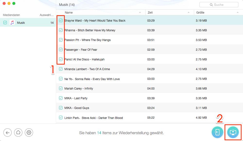 Musik aus dem iPhone wiederherstellen – iPhone Musik Weg unter iOS 11/11.1