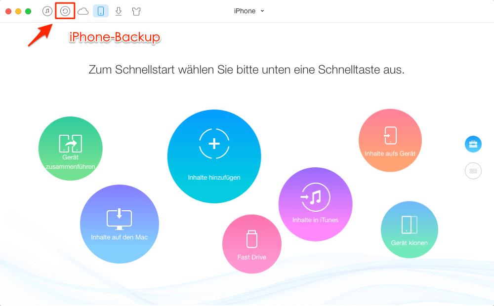 iPhone Backup öffnen und Inhalte überprüfen – Schritt 2