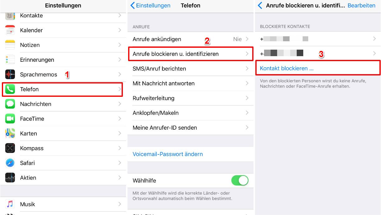 iPhone Nummer blockieren – In Einstellungen App