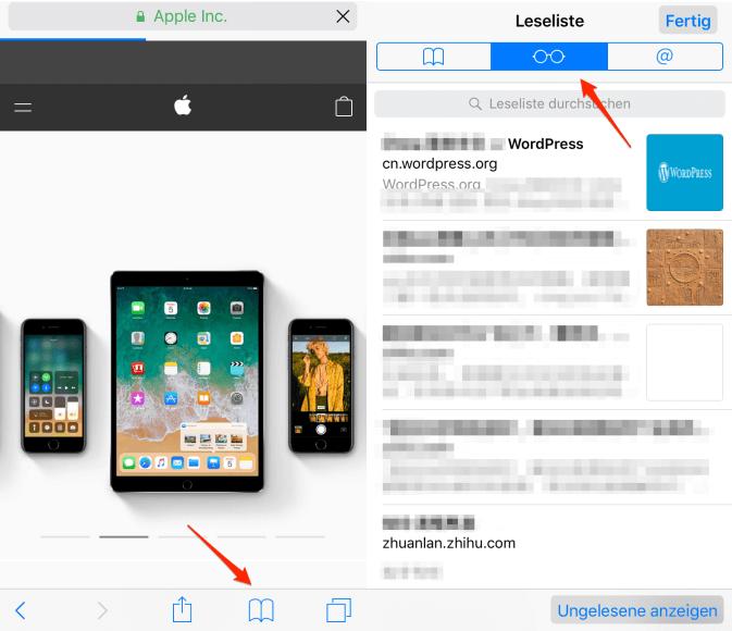 Safari Verlauf auf iPhone/iPad überprüfen