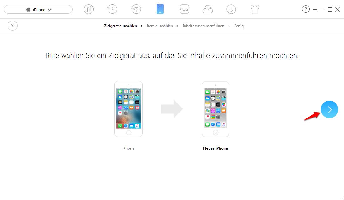 iPhone iMessage synchronisiert nicht - Daten mit AnyTrans verschieben