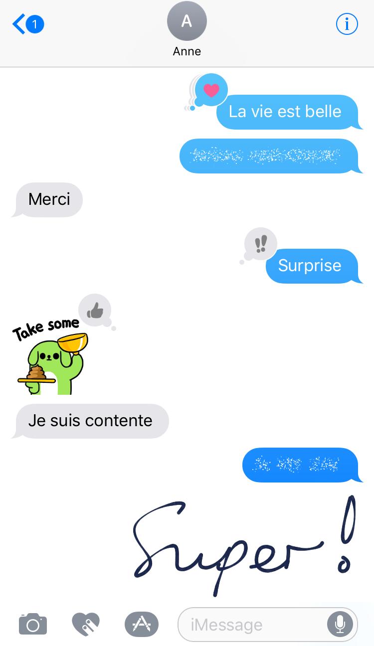 SMS Verlauf als Bildschirmfoto ausdrucken