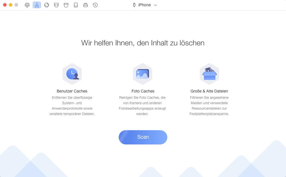 iPhone Speicher voll – Speicher vom iPhone mit PhoneClean verwalten