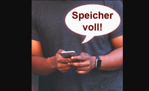 iphone speicher voll trotz löschen mail