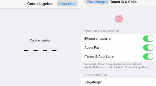 iPhone Pflegetipps und Tricks – Code und Touch ID erstellen