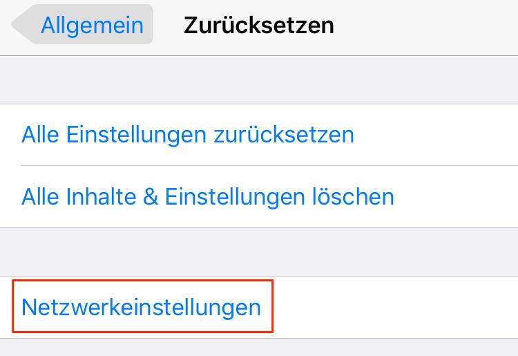 Netzwerkeinstellungen zurücksetzen - iPhone verbindet nicht mit WLAN