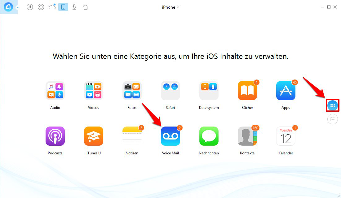 iPhone Voicemail speichern – Schritt 1