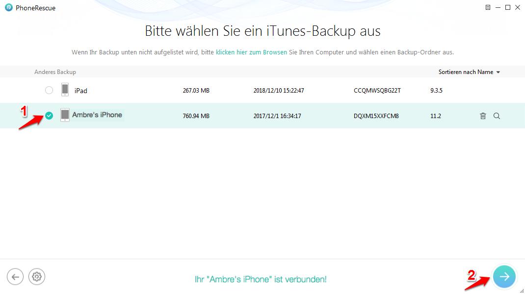 iPhone wiederherstellen dauer – Alternative zu iTunes auswählen