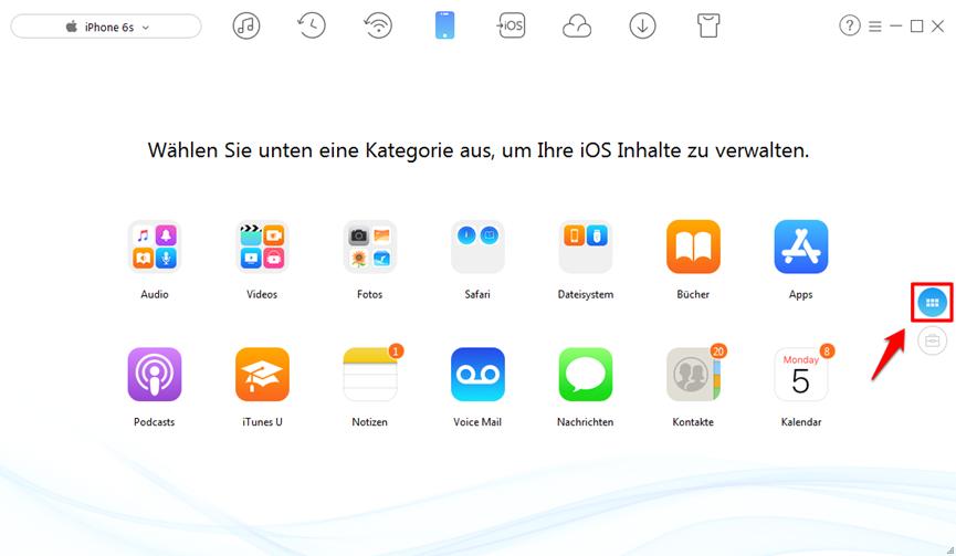 iPhone X Klingelton auf andere iPhones – AnyTrans verwenden