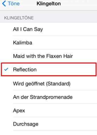 exklusiver Klingelton – auf älteres iPhone einstellen