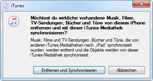 iPhone X Klingelton mit iTunes synchronisieren