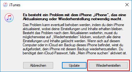 iPhone ohne Code zurücksetzen