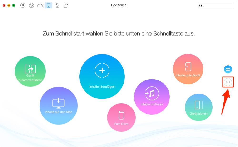 Musik vom iPod auf Mac – Schritt 1