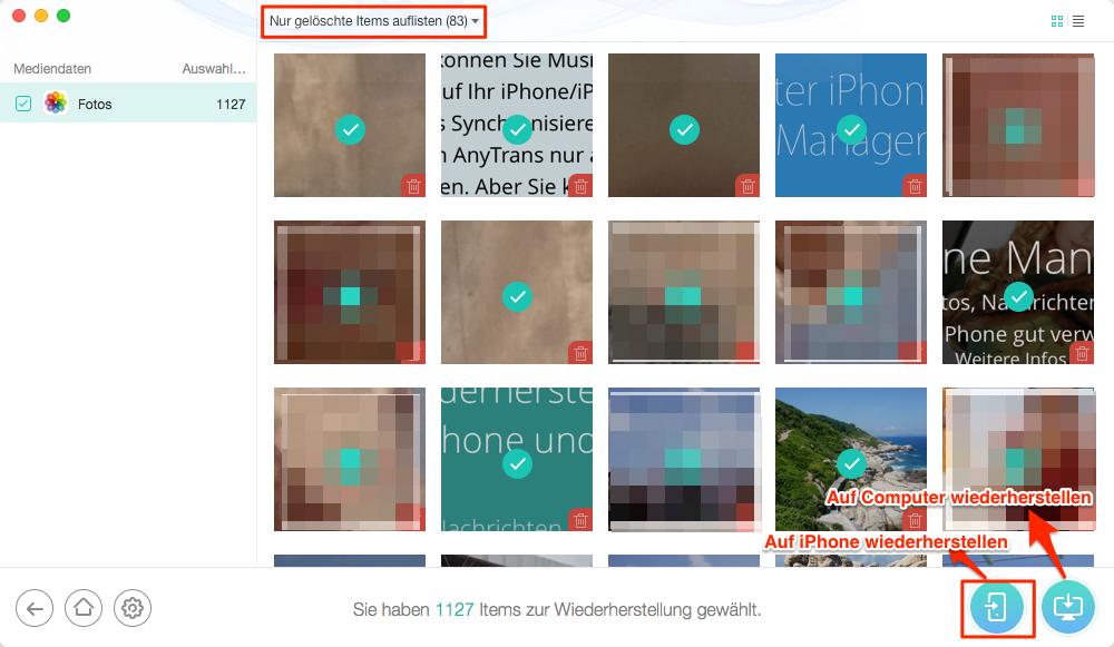 Fotos auf iPhone abrufen – iTunes Alternative für Mac und PC