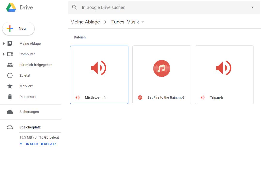 iTunes auf Android – Daten mit Google Drive übertragen