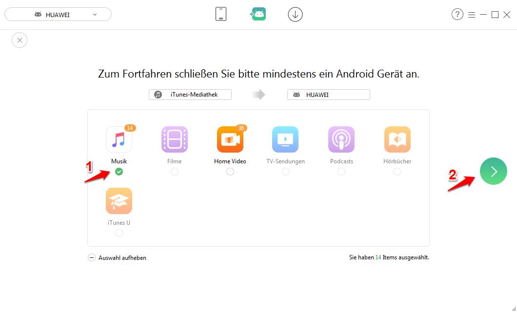 iTunes auf Android – Musik mit AnyTrans direkt übertragen