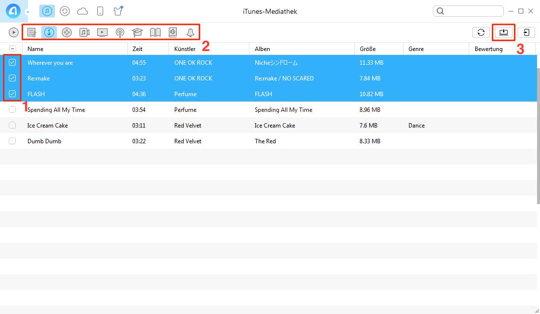 iTunes-Mediathek auf PC übertragen – Schritt 3